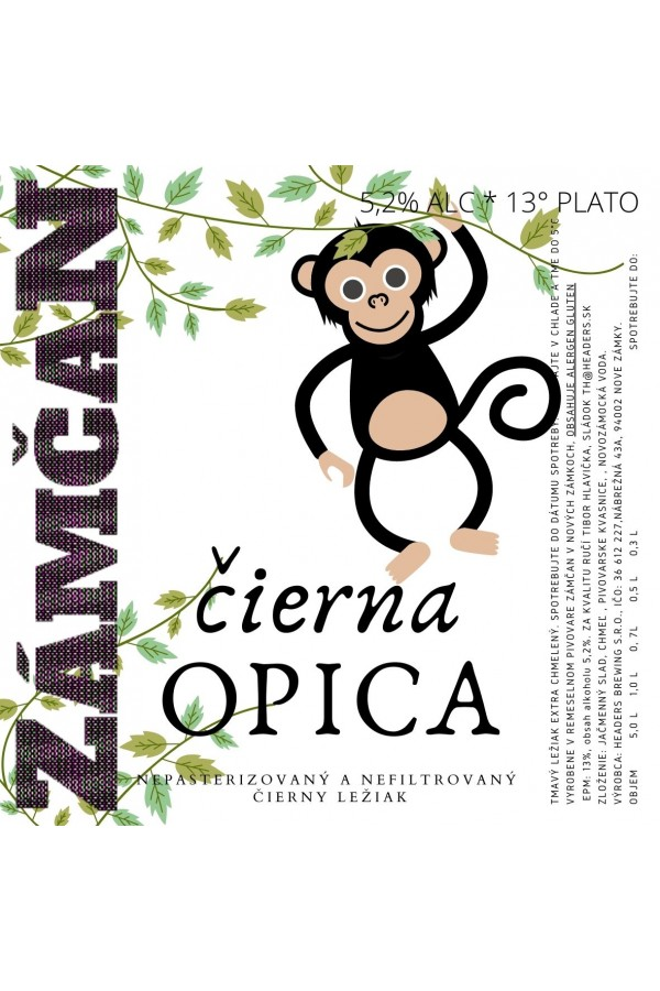 Beer label Black Monkey 2021
