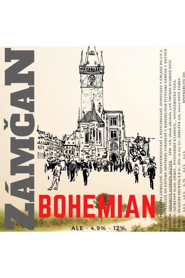 Beer label bohemian 2020