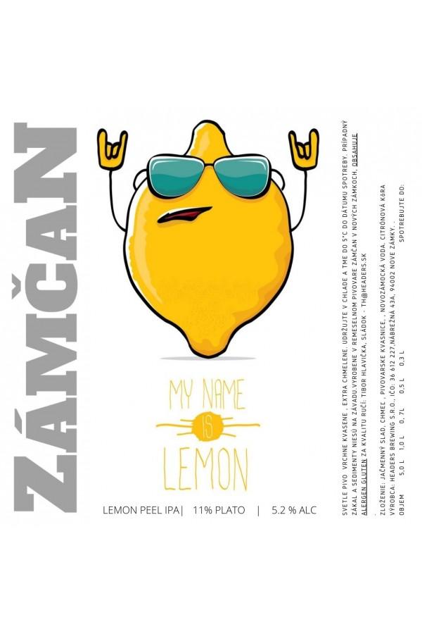 Beer label My name is lemon 2021
