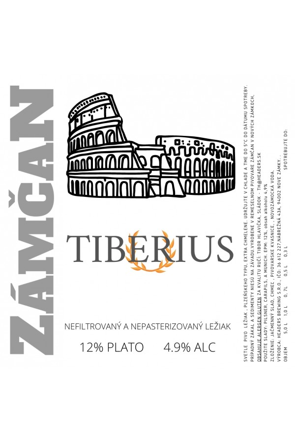 Tiberius 12° 0,7L Glass Bottle
