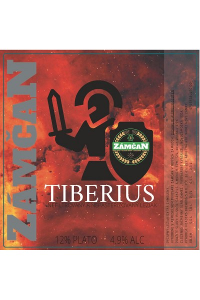 Beer label Tiberius 2020